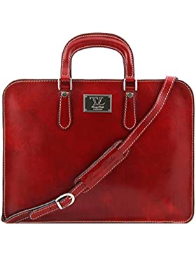 81409614 - TUSCANY LEATHER: ALBA - Damen Aktentasche aus Leder, rot