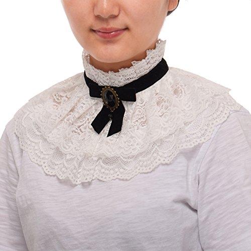 Adult Kostüm Victorian Lolita - BLESSUME Lolita Spitze Hals Halsband (Weiß)