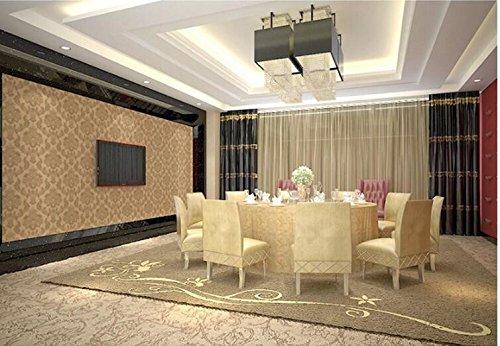 Preisvergleich Produktbild Xzzj Kurz moderne Kontinentaleuropa Cum Laude Home Wallpaper Schlafzimmer Wohnzimmer Anti-Tooth Decay Wasserdicht PVC-Tapeten,  Champagne Gold