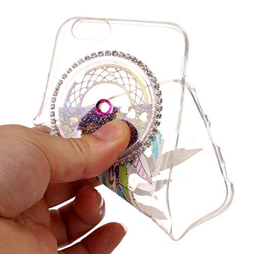 Etui iPhone 5C, SpiritSun Glitter Liquide Etui Coque TPU Slim Bumper pour Apple iPhone 5C Etoiles Paillettes Sable Souple Housse de Protection Flexible Soft Case Cas Couverture Anti Choc Mince Légère  Violet