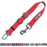 Pawtitas Individuell Verstellbarer Hunde-Sicherheitsgurt und -Rückhalteeinrichtung für Haustier-Transportvorrichtungen, Rote Farbe