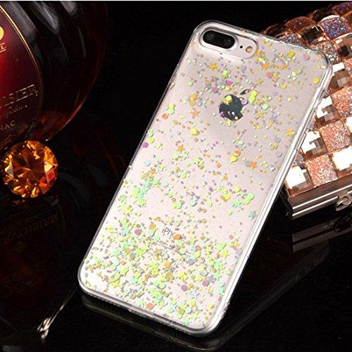 BING Für iPhone 7 Epoxy Dripping gepresst echt getrocknete fallende Blumen Glitzer Powder Girl weichen TPU Schutzhülle Cover BING ( SKU : Ip7g2298b ) Ip7g2298d