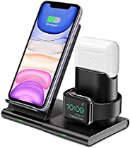 Innoo Tech Wireless Charger, 3 in 1 Wireless Charging Station for Apple Watch Series 5/4/3/2, Airpods Pro/2, 7