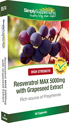 Resveratrol Capsules 5000mg | Maximum Strength Grapeseed Extract Supplement | 60 Capsules | Manufactured in the UK Test