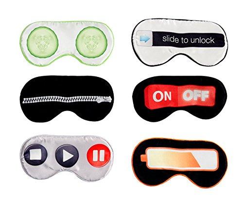 Fun Funky Sonnenbrille Schlaf Augenmaske Reisen Maske on/off