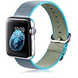 JACKY Apple Watch 42mm For Release Sports Royal Woven Nylon Bracelet Strap Band SKY BLUE
