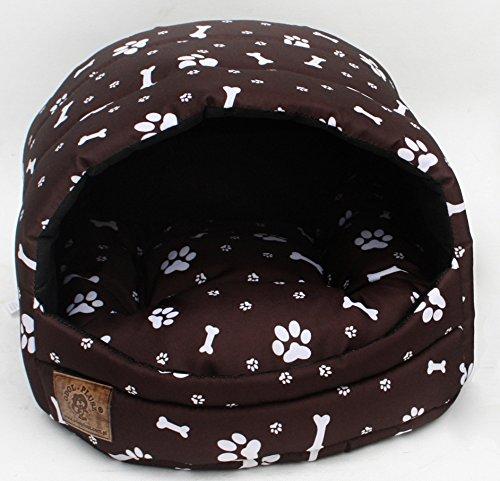 Hundehöhle Pfötchen braun