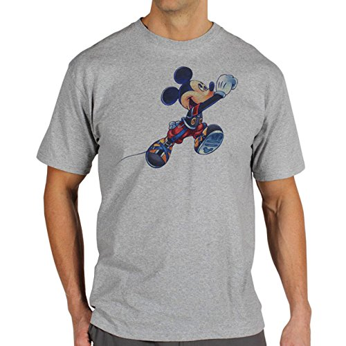 Mickey Mouse Disney Dope Icon Swag Colour Runing To Reality Herren T-Shirt Grau