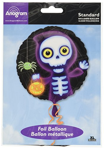 Amscan International Runder Folienballon mit Motiv: Boo Crew Skelett