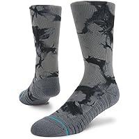Stance Nightlit Crew Athletic Crew Socks - Grey Large