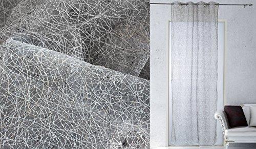 Takestop® tenda versus nero 140x280cm a pannello doppio velo con 8 anelli per arredo interni porta finestra bastone design moderno