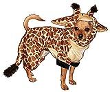 Hip Doggie HD-10GC-XS Giraffe Costume - Hund Kostüm Pullover, XS