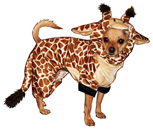 Hip Doggie HD-10GC-XS Giraffe Costume - Hund Kostüm Pullover, XS (Giraffe Schwanz Kostüm)