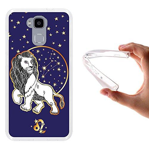 WoowCase Doogee Y6 4G Hülle, Handyhülle Silikon für [ Doogee Y6 4G ] Tierkreiszeichen Löwe Handytasche Handy Cover Case Schutzhülle Flexible TPU - Transparent