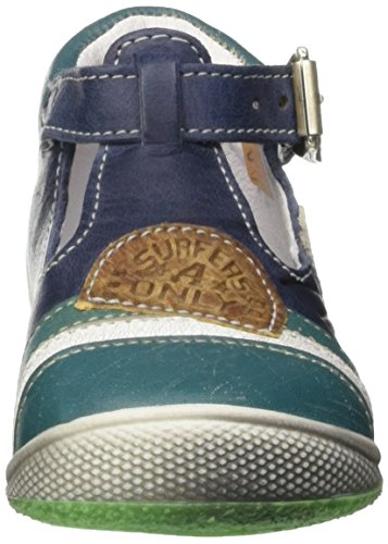 Catimini Courlis, Chaussures Bébé marche bébé garçon Bleu (12 Vte Marine/Vert Dpf/Milk)
