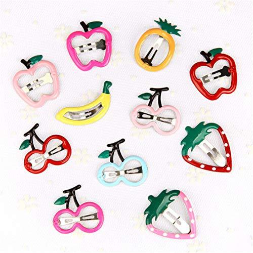 NNYCS Haarspangen 10 Stücke Kinder Haarschmuck Headwear Ananas Obst Haarnadeln Cartoon Erdbeere Haarspange Für Mädchen Süße