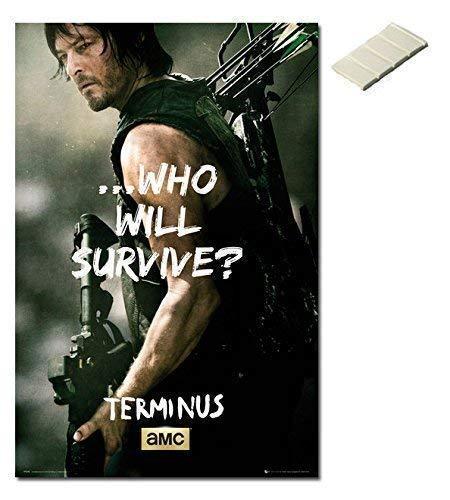 Bündel - 2 Artikel The Walking Dead Poster Daryl 91,5 X 61cm (36 24 X und Block (Walking 24x36 Dead-poster)