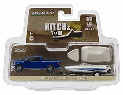 Greenlight 2015 Ford F-150 & Boat With Trailer Hitch &