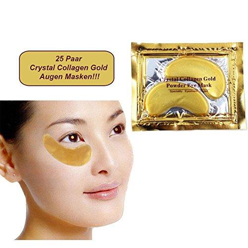 25er Set Exklusive Collagen Gold Augenpads mit Hyaluronsäure Goldpowder