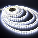 5Meter Non-Waterproof WHITE Flexible LED Strip + Adapter DC 12V, 2835/3528 SMD, Decorative Light- By Mittal ELE.