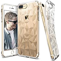 Custodia iPhone 7 Plus, Ringke [AIR PRISM] 3D Design contemporaneo ed elegante e ultrasottile ed elegante geometrico Disegno flessibile pieno-corpo protettivo testurizzata TPU resistente alle cadute coprire per Apple iPhone 7 Plus - Clear