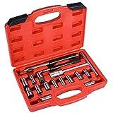 17pièces Injecteur Diesel Seat Cutter Set Nettoyant Carbone Remover kit Outil de garage Auto Universel avec un étui de rangement