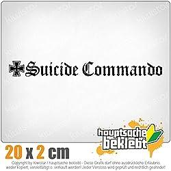Suicide Commando 20 x 2 cm In 15 Farben - Neon + Chrom! JDM Sticker Aufkleber