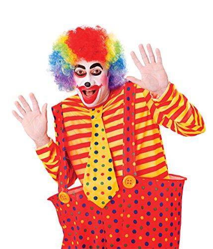 Rubie's BW113 - Parrucca Clown, Arcobaleno, Taglia Unica