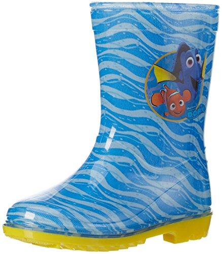 Findet Dory Boys Kids Rainboots Boots, Bottes mi-hauteur non doublées garçon Bleu - Blau (C.BLUE Cbl)