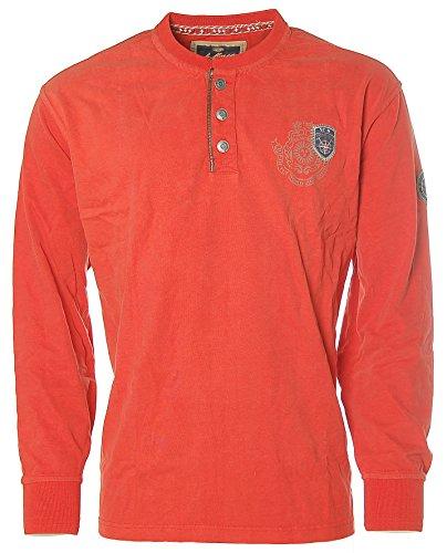 St. Moritz Herren Langarm Shirt T-Shirt Rundhals Mountain Rescue Team Dark Orange