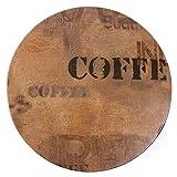 Werzalit Plus CL047piano tavolo rotondo, 700mm, sacco di caffè