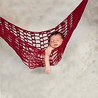 1PC a maglia cappelli neonato amaca fotografia foto Prop bambino crochet lavorato a maglia letto