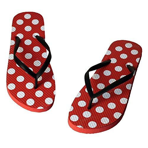 Eastlion Frauen und Mädchen Sommer Hausschuhe Flip Flops Strings Strand Hausschuhe Schuhe Rot