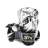 Guantoni da boxe Junior Kids & Adult Taglie Muay Thai Training Pelle Sparring Punching Bag, 3,10 oz