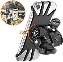 Cocoda Support Téléphone Vélo, Support Moto de Guidon Universel Rotatif à 360 Degrés Anti-Vibrations en Silicone...