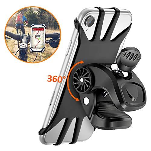"""Vobon Supporto Bici Smartphone, Porta Cellulare Bici 360° Rotabile Universale Supporto Telefono da Bici e Moto per Bicicletta Ciclismo, GPS Nacigatore e Altri Dispositivi Elettronici 4.5""""- 6.5"""""""