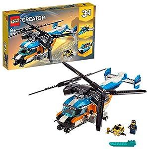LEGO Creator - Helicóptero de Doble Hélice Nuevo juguete de construcción 3 en 1 para Recrear Miles de Aventuras (31096)