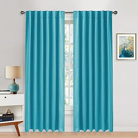 Blackout Curtains Window Treatments Drapes - PONY DANCE Back Tab