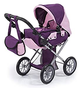 Bayer Design- Cochecito de muñeca, City Star, Color Rosa, Lila (13657AA)