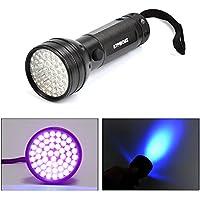 ATPWONZ 51 LED Linternas UV Ultravioleta - Linterna Lámpara LED para Detector de Billete y Manchas de Orina de los Perros Manchas del Gato en Alfombras Sofá Muebles ( incluidas pilas)