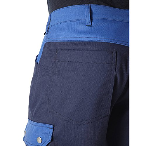 PIONIER WORKWEAR Herren 5-Pocket-Bermuda Top Comfort Stretch in marineblau (Art.-Nr. 2462) Marineblau / Königsblau