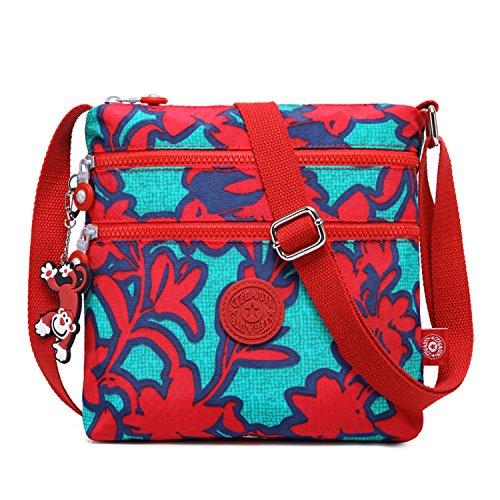 Foino Umhängetasche Damen Schultertasche Mode Kuriertasche Vintage Handtasche Lässige Taschen Reisetasche Leicht Strandtasche Sporttasche für Mädchen Büchertasche Design Messenger Bag