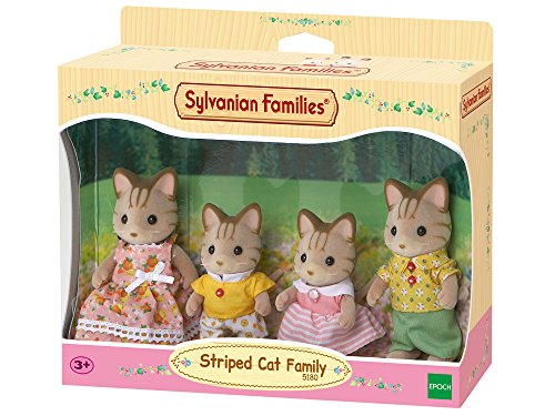 SYLVANIAN FAMILIES Striped Cat Family Mini muñecas y Accesorios Epoch para Imaginar 5180