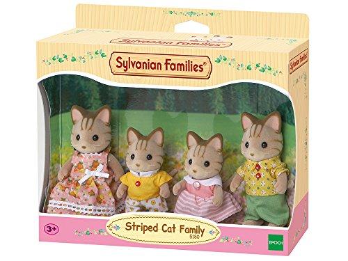 Sylvanian Families Striped Cat Family Mini muñecas y Accesorios, (Epoch 5180)