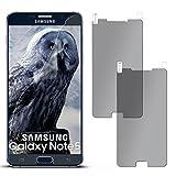 moex 2X Samsung Galaxy Note 5 | Sichtschutzfolie Anti-Spy Displayschutz-Folie [Privacy] Screen Protector Dünn Blickschutz-Folie für Samsung Galaxy Note 5 Schutzfolie Matt Sicht-Schutz