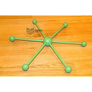 Mobilestern grün - Mobile Kreuz 35cm
