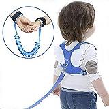 Anti-verloren Gürtel, OFUN 2 Stücke Leine für Kinder, 2,5 m Baby Leine Laufleine Baby, Weiche Baumwolle und PU-Material, Kinder Laufleine (Blau)
