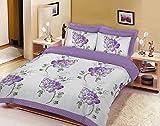 Juego de cama con funda de edredón y funda de almohada con estampado floral de polialgodón, 50% algodón/50% poliéster, Lilacfloral, King Duvet Set