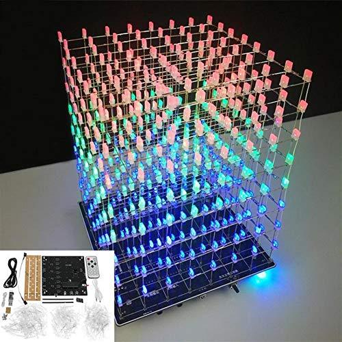 Lin Feng Xin Mu Cai Starter Kit Würfel Kit Rot Blau Grün LED MP3 Musik Spektrum Elektronik Kit Kein Gehäuse DIY WiFi APP 8x8x8 3D Licht
