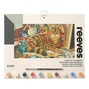 Reeves - Creatividad - Pintar por números - Grande, El gato del artista
